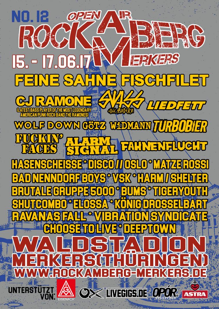 Rock am Berg-Open Air @ Waldstadion-Merkers | Merkers-Kieselbach | Thüringen | Deutschland