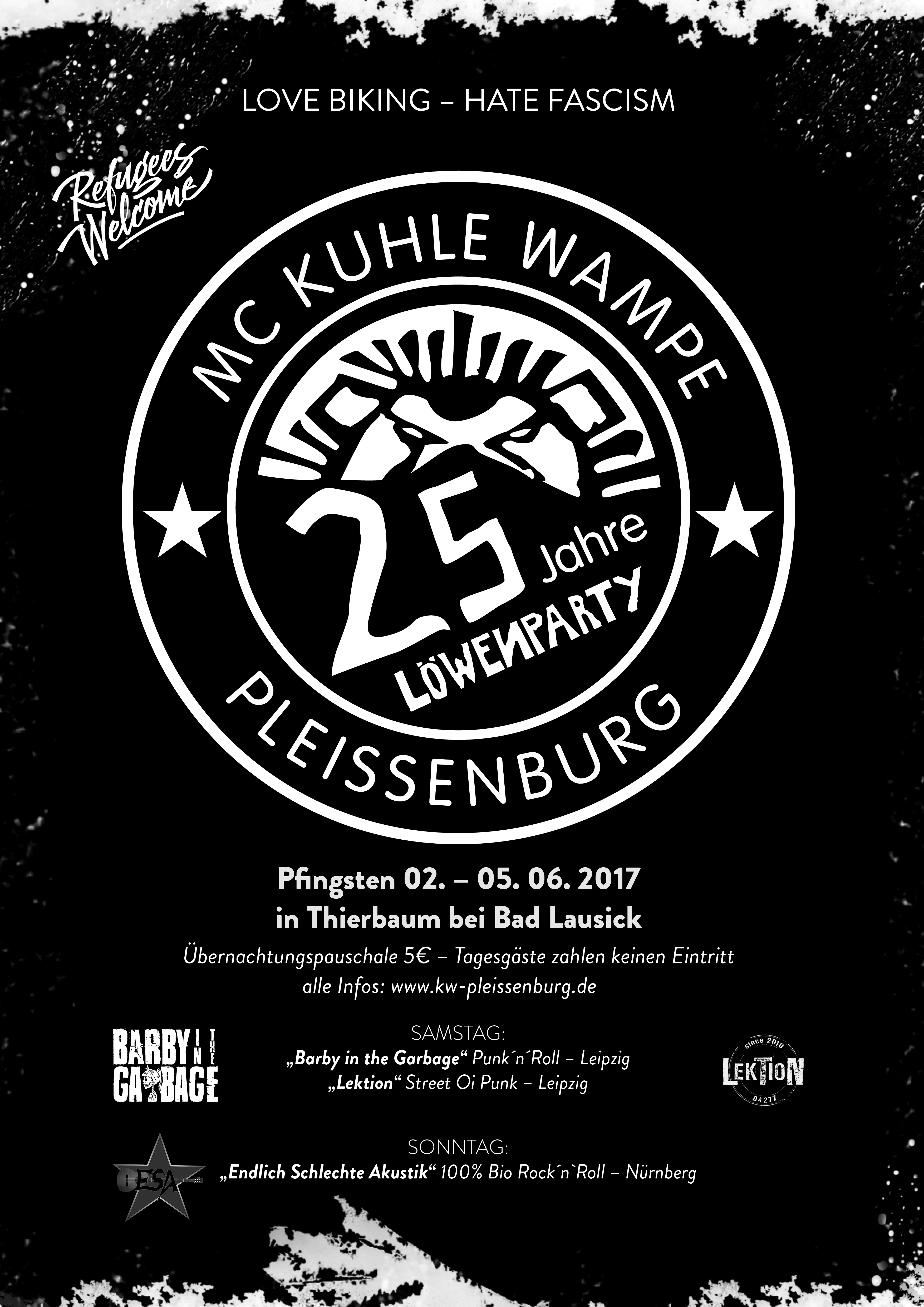 Löwenparty des MC Kuhle Wampe Pleissenburg @ Thierbaum | Bad Lausick | Sachsen | Deutschland