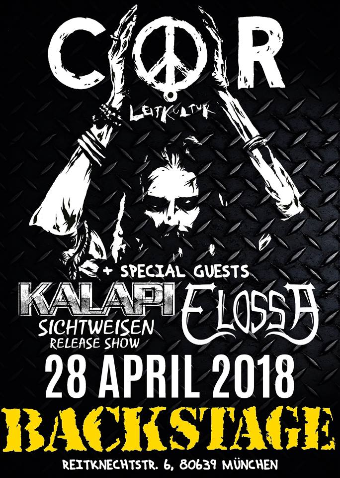 """Kalapi """"Sichtweisen""""-Album Release Show mit COR @ Backstage München"""