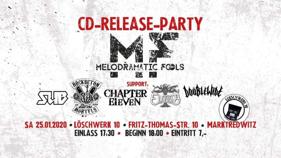 """Konzi zur Melodramatic Fools """"CD-Release_Party"""" @ Löschwerk 10"""