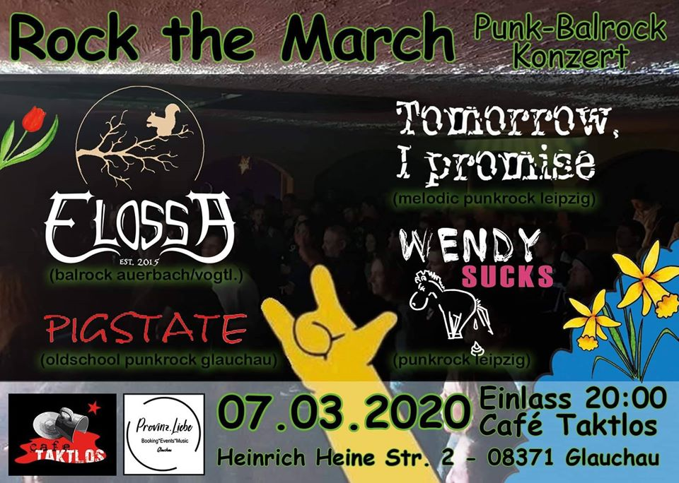 Rock the March, Punk-Balrock Konzi @ Café Taktlos